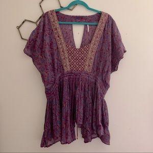 Free People peasant blouse sz L